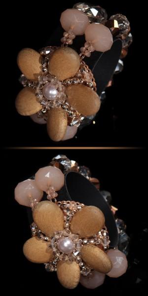 Trendy Armreif mit Perlen