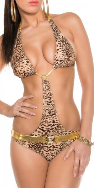 Sexy Neck-Monokini mit Gürtel