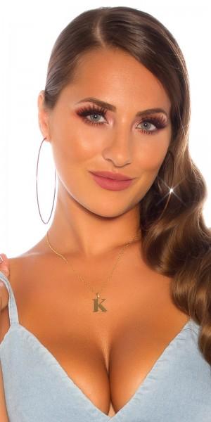 Sexy Buchstaben Halskette K