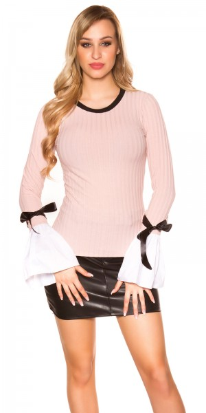 Trendy langarm Shirt mit Glockenärmel