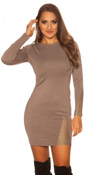 Sexy KouCla Feinstrick-Kleid mit Spitze