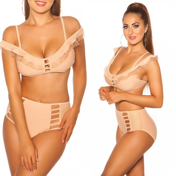 Sexy Bikini m.Highwaist-Höschen& herausnehmb. Pads