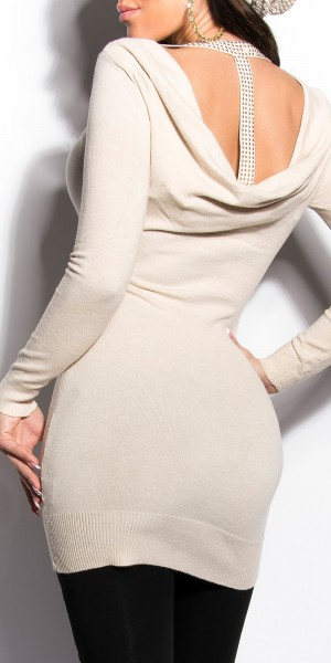 Sexy KouCla Longpullover mit Nieten und cut-outs