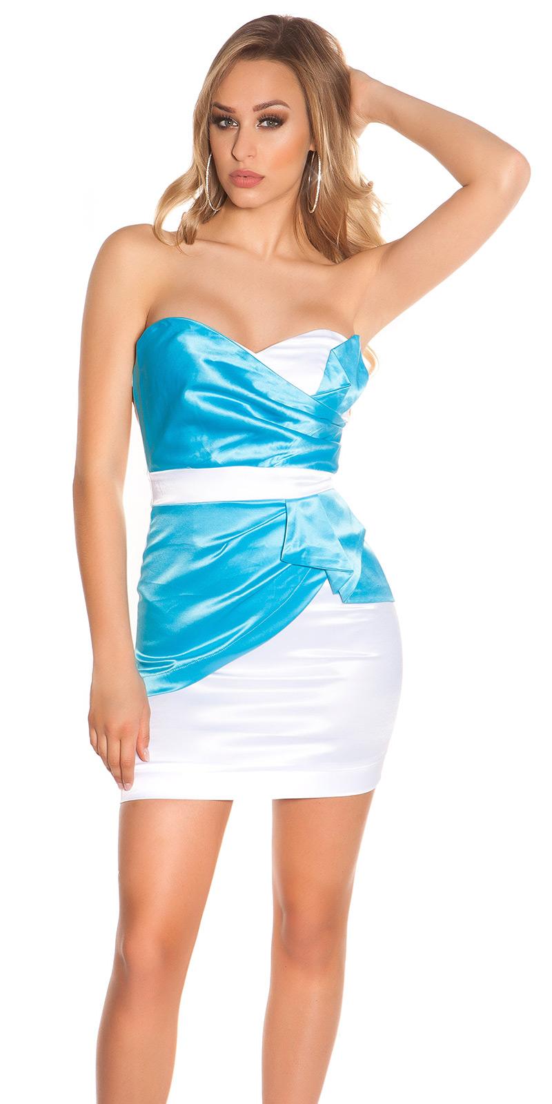 Sexy Bandeau Cocktail-Kleid mit Reißverschluss ...