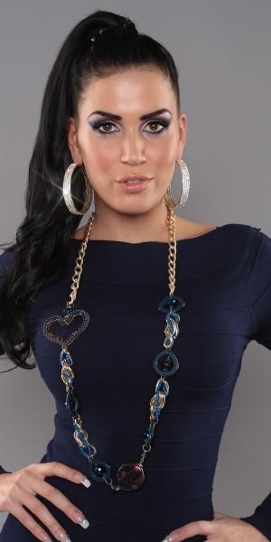 Trendy Kette mit Perlen