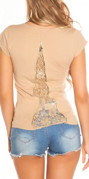 Sexy KouCla Shirt mit Zips und Spitze