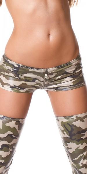 Sexy - Hotpants mit Reißverschluss