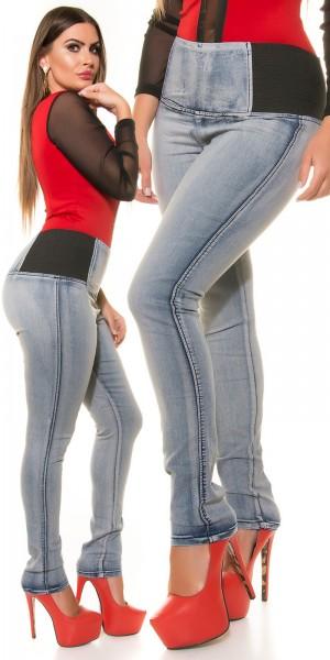Curvy Girls Size! High Waist Skinny Jeans
