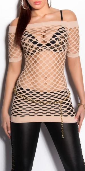 Sexy Netz-Kurzarmshirt