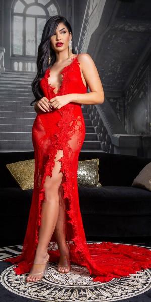 Soo Seductive! Red Carpet Gala Kleid mit Stickerei