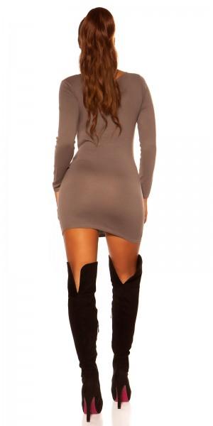 Trendy Koucla Feinstrick-Pullover mit Raffung