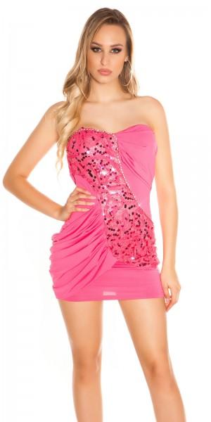 Sexy Bandeau-Partykleid mit Strasssteinen
