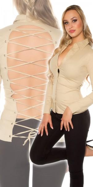 Sexy Bluse zum binden, rückenfrei