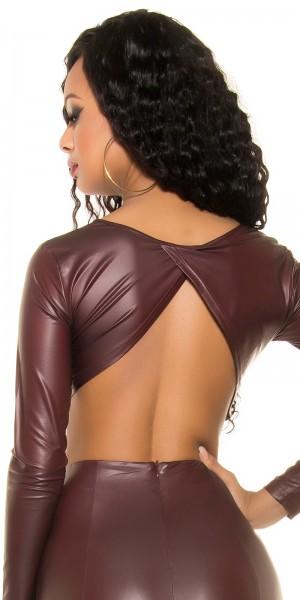 Sexy KouCla Wetlook Crop Shirt Rückenfrei