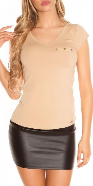 Sexy KouCla T-Shirt mit Spitze und Skulls