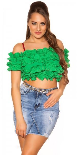 Sexy Carmen Crop Shirt